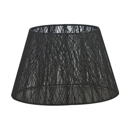 Skærm Oval Blonde 22 cm Sort/Glitter - Lampan