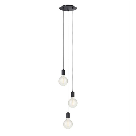 Sky Rund Sort Loftlampe - Lampan