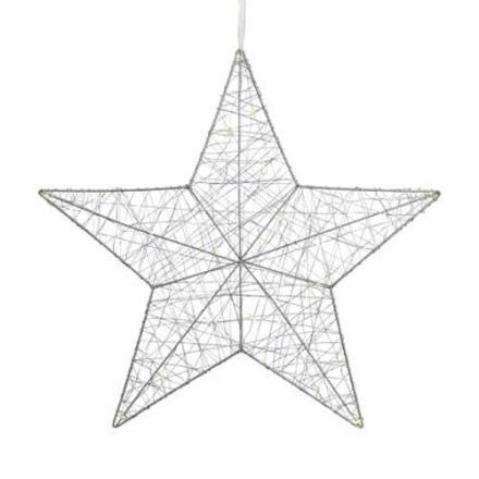 Artur Sølv Stjerne 50 cm LED - Lampan