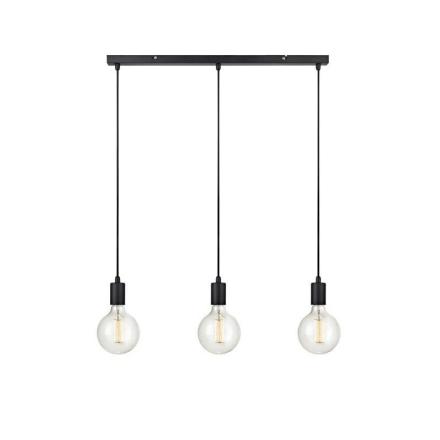 Sky Lige Sort Loftlampe - Lampan
