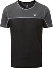 Dare 2B sportshirt Notable heren polyester zwart/grijs