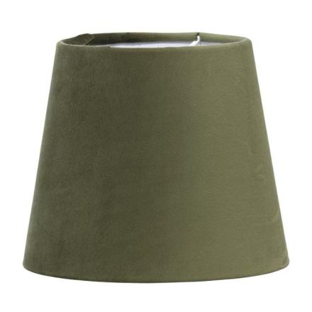 Mia L Velour Grøn 17 cm Lampeskærm - Lampan