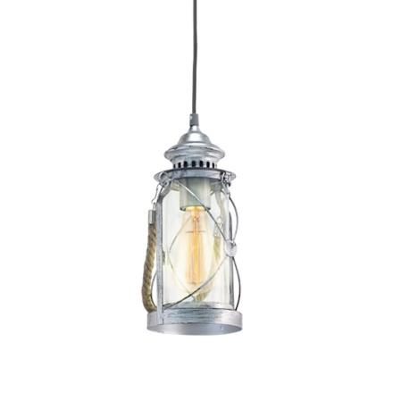 Vintage Lygte Stål Loftpendel - Lampan