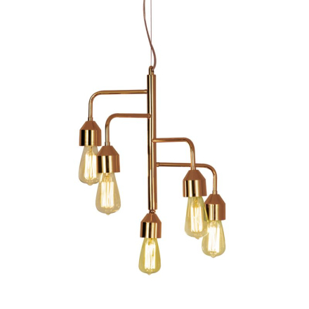 Flynn Kobber 5X60w Loftlampe - Lampan