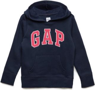 Kids Gap Logo Hoodie Sweatshirt Hoodie Blå GAP