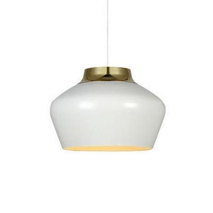 Kom Hvid/Messing Loftlampe - Lampan