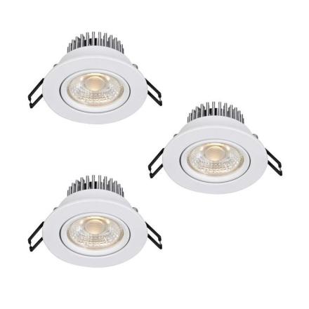 Hera Hvid LED/Dæmpbar 3-P Ip44 Downlight - Lampan