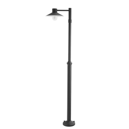 Lund Sort 1-armet Lygtepæl - Lampan