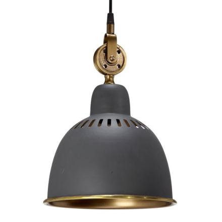 Cleveland Grå/Messing 23 cm Loftlampe - Lampan