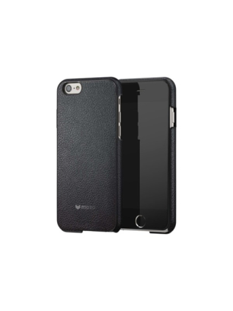 iPhone 6/6S Back Cover Black Leather with Bla
