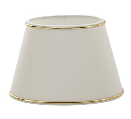 Chintz Hvid/Guld Oval 33 cm - Lampan