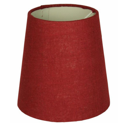 Skærm Hør 14,5 cm Vinrød - Lampan