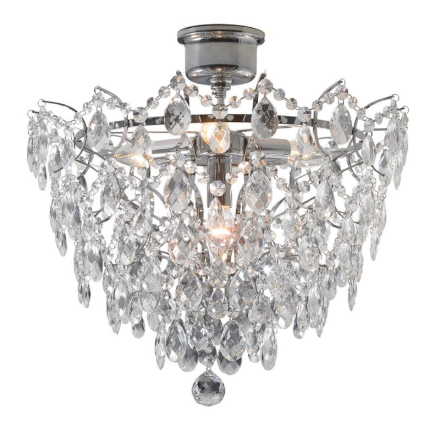 Rosendal Krom 48 cm Plafond - Lampan