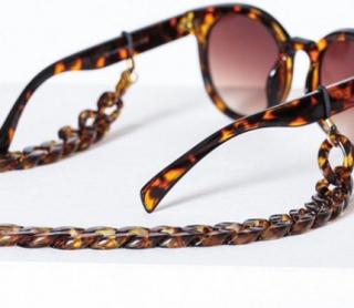 Pieces Pccarrie Sunglass Chain Solbriller Mørkebrun