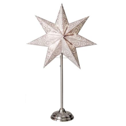 Antique Vit 55Cm Stjärna På Fot