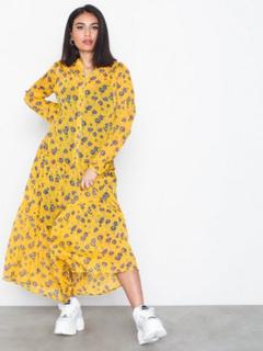 Vila Vilamala L/S Ankle Dress Maxikjoler