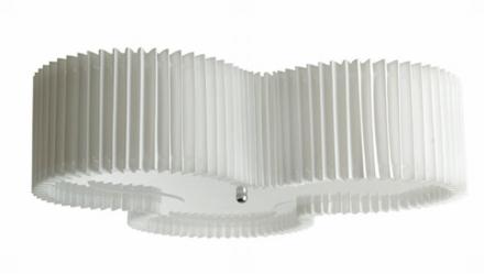 Kolme Hvid Plisseret 50 cm Plafond - Lampan