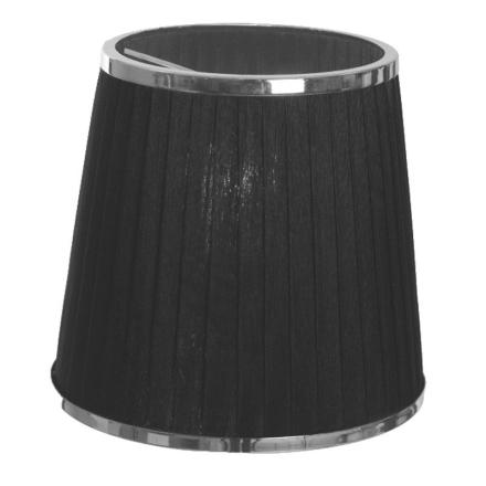 Skærm 14 cm Sort/Krom - Lampan