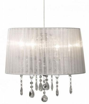 Ljusdal Krom/Hvid Loftlampe - Lampan