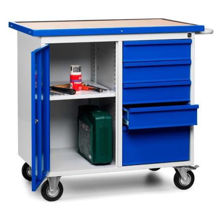 Værkstedsvogn SMV 9002 5005 1090x960x600 mm blå dør