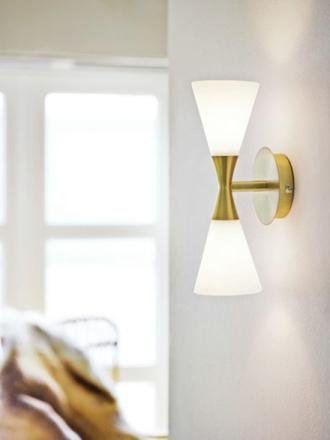 Harlekin Duo Messing Væglampe - Lampan