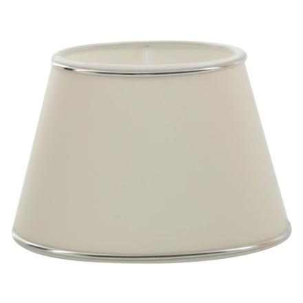 Chintz Hvid/Sølv Oval 33 cm - Lampan