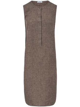 Ärmlös klänning i rent linne från Peter Hahn beige