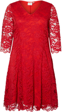 JUNAROSE Lace Dress Women Red