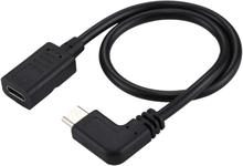Kulma Adapterikaapeli USB-C / Tyyppi-C naaras - uros