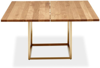 Dk3 Jewel table Oil oak, Raw brass - 160x160