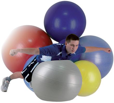 Aserve ABS Gymball Træningsbold 85cm Blå