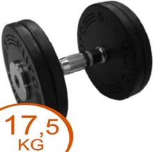 Eurosport Faste Black Metal Håndvægte 17,5kg (2 stk.)