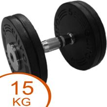 Eurosport Faste Black Metal Håndvægte 15kg (2 stk.)