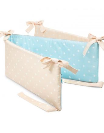 Ochraniacz do łóżeczka Lovely Dots Mint & Beige