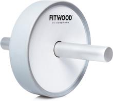 FitWood Kjerag Ab Wheel - Hvid Træ / Grå Alu. Håndtag / Grå Ring