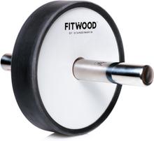 FitWood Kjerag Ab Wheel - Hvid Træ / Rustfri Stål Håndtag / Sort Ring