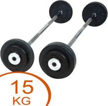 Eurosport Rubber Barbell 15kg
