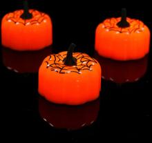 12 Stück Halloween Kürbis LED Licht Mini Nachtlicht Für Festival Weihnachtsdekoration Kinder Geschenk Spinnennetz Kürbis