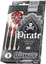 Harrows Softip Pirate Black Brass Softtip Dartpile 18 g
