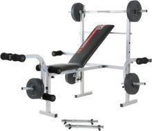 Hammer Bermuda Bænkpres Træningsbænk (Inkl. 25kg vægtsæt)