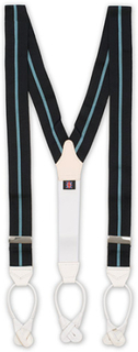 Seler von Albert Thurston. Grösse: One size. Farbe: Blå. Albert Thurston Thin Stripe Braces 40 mm Wall Street
