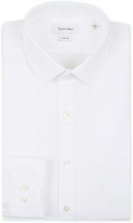 Businessskjorter von Calvin Klein. Grösse: 38 - S. Farbe: Hvid. Calvin Klein Bari Slim Fit Stretch Poplin Shirt White
