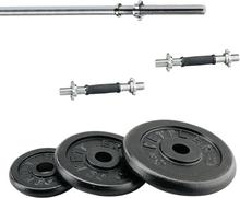 Kettler Cast Iron Vægtsæt 52kg (Inkl. 30mm vægtstænger og vægtskiver)