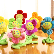 10pcs Curtain Accessories home decoration Cute Smile cartoon Sunflower plush toys creative Christmas Valentine's Day gift