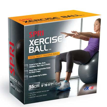 SPRI Xercise Gymnastikbold 55cm (Inkl. Trænings DVD & Pumpe)
