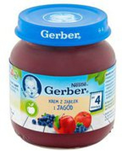 Gerber - Deser jabłko i jagody