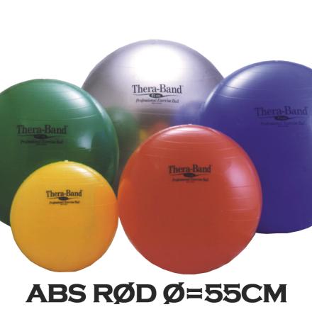 Thera-Band Terapibold & Træningsbold 55cm Rød (Inkl. ABS)