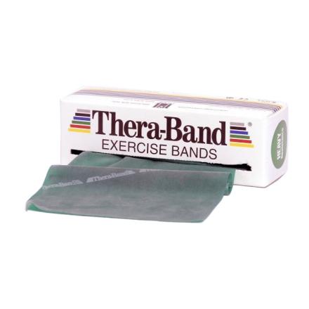 Thera-Band Træningselastik Bånd Level 3 Hård Grøn 45,5m - Apuls