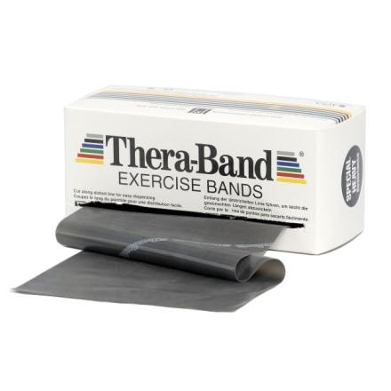 Thera-Band Træningselastik Bånd Level 5 Speciel Hård Sort 45,5m - Apuls