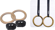 Titan BOX Wooden Gymrings Gymnastikringe Træ
